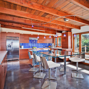 Modern Blue Kitchen