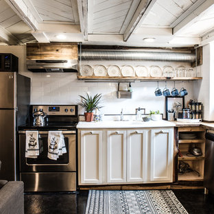 75 Most Popular Rustic Kitchen With Subway Tile Backsplash Design