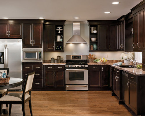 Elegant Traditional L Shaped Eat In Kitchen Idea In Salt Lake City With A Drop Nice Ideas