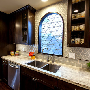 Modern, colorful Spanish Colonial Kitchen