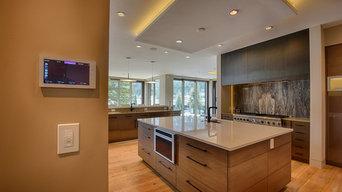 Modern Contemporary Home Media Installation + Design