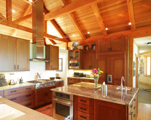 Contemporary Post And Beam Home T00429