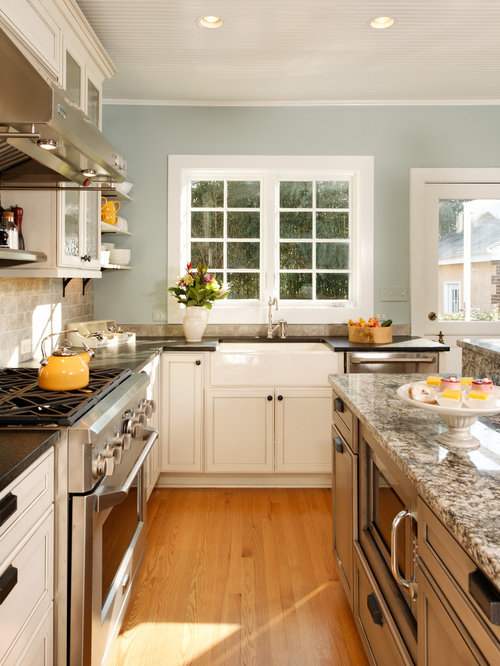 modern country kitchen designs. Traditional kitchen idea in DC Metro with a farmhouse sink and stainless  steel appliances Modern Country Kitchen Houzz