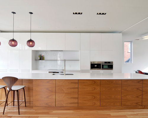 White And Wood Kitchen Island Home Design Ideas, Pictures, Remodel and Decor