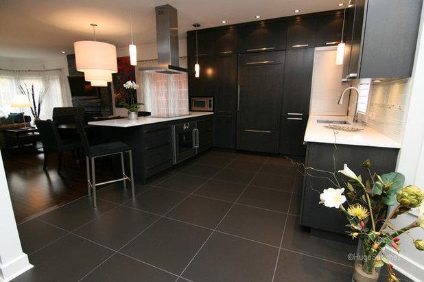 8 magnifiques cuisines noires. Black Bedroom Furniture Sets. Home Design Ideas