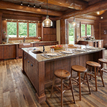 Modern Day Log Cabin - The Bowling Green Residence - Kitchen