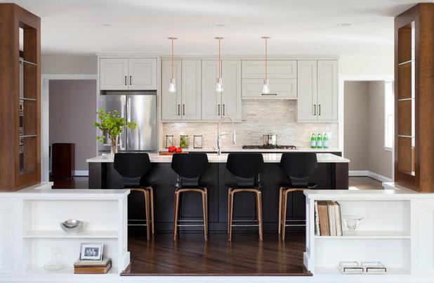 Transitional Kitchen by Haus Interior Design