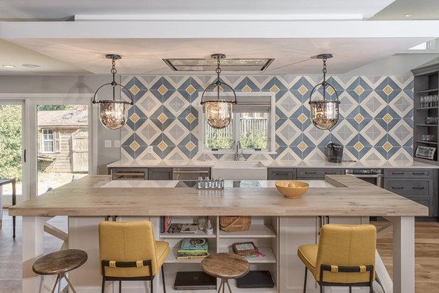Farmhouse Kitchen by Sagatov Design-Build