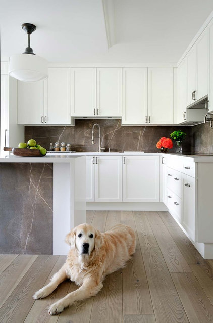 Transitional Kitchen by Jodie Rosen Design