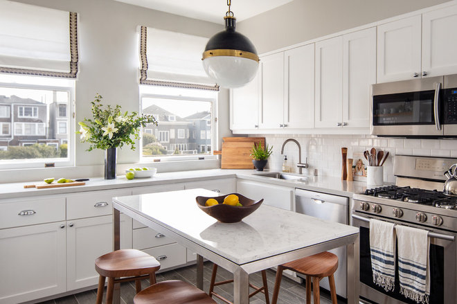 Transitional Kitchen by Rachel Madden Interiors