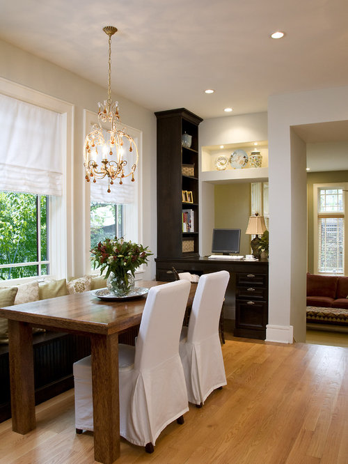Example Of A Large Classic Galley Light Wood Floor Eat In Kitchen Design Chicago