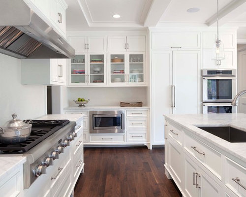White Shaker Kitchen Home Design Ideas Pictures Remodel