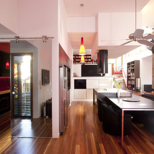 Kitchen - modern kitchen idea in Brisbane with stainless steel appliances