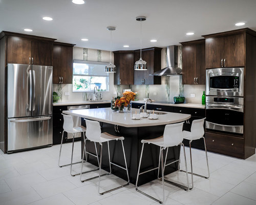 Modern kitchen design ideas renovations photos with for Anigre kitchen cabinets