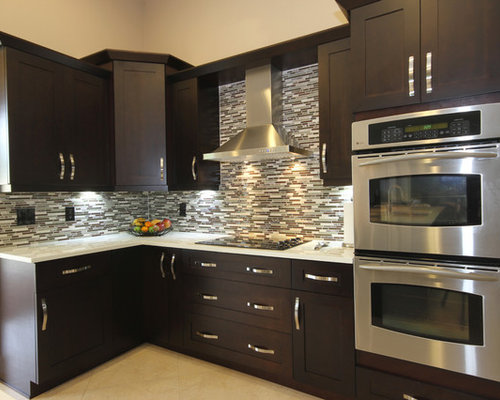Espresso kitchen cabinets houzz for Kitchen cabinets houzz
