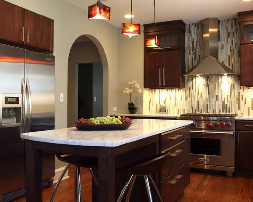 cabinets dark wood cabinets quartzite countertops multicolored