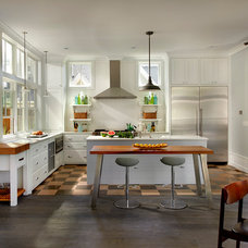 Farmhouse Kitchen by Charles Vincent George Architects, Inc.