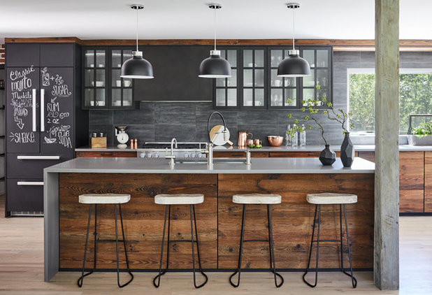 Industrial Kitchen by Paul Lopa Designs