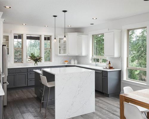 108609 u shaped kitchen with an island design ideas