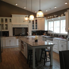 Farmhouse Kitchen by Drake Homes