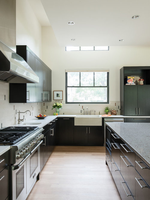 Modern farmhouse kitchen houzz Modern kitchen design ideas houzz