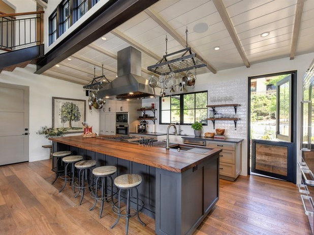 Transitional Kitchen by Landmark Builders