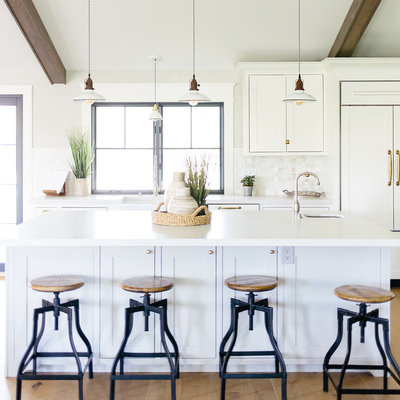 Farmhouse Kitchen by Luster Custom Homes & Remodeling