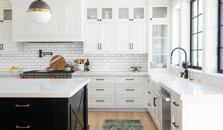 Before and After: 3 Kitchens Lighten Up With Glass and White