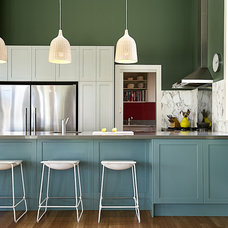 Transitional Kitchen by Brett Mickan Interior Design