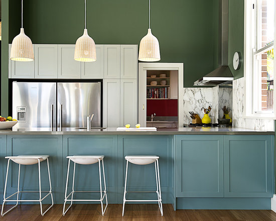 different color kitchen island | houzz