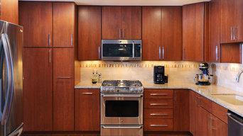 Modern, Full Overlay, Cherry Kitchen