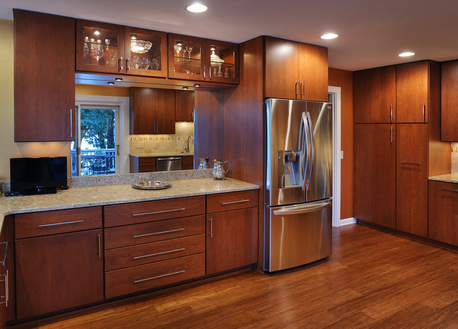 Modern, Full Overlay, Cherry Kitchen