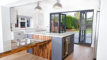 Modern, grey kitchen
