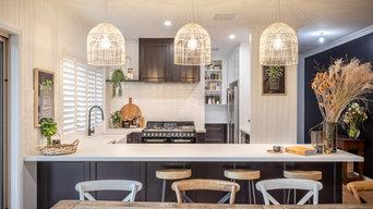 Modern Hamptons Monochrome Kitchen