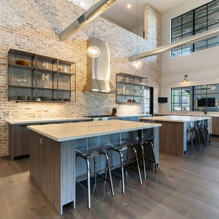 Modern Industrial Loft kitchen, bar & coffee bar