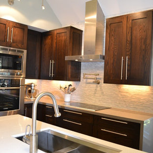 kitchens with wood cabinets faucet above stove houzz 6657