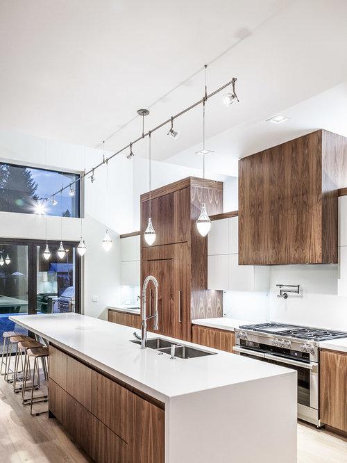 Cucina moderna con pavimento in bambù - Foto e Idee per ...