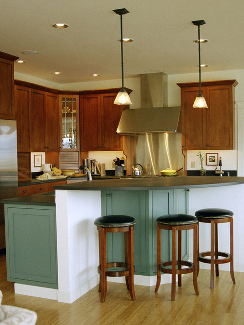 Kitchen Island Green green kitchen island | houzz