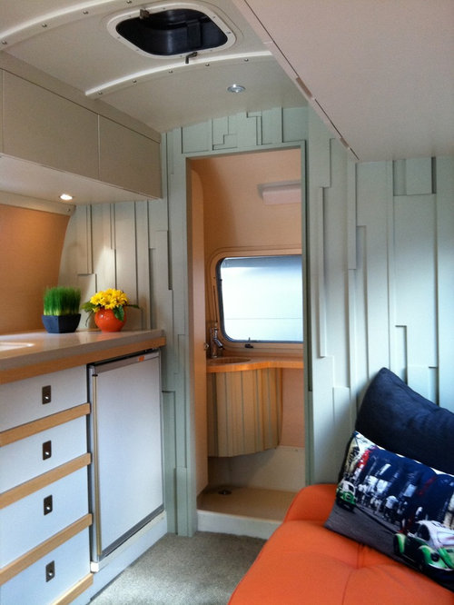 Airstream Interior Design Minimalist Pleasing Airstream Renovation  Houzz Review
