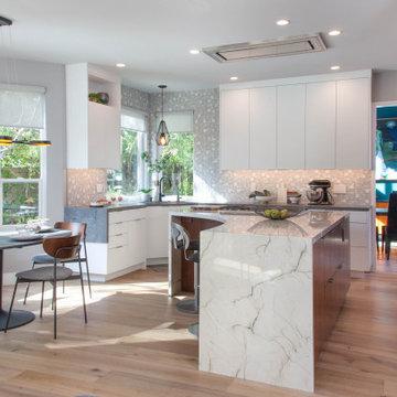 Modern Kitchen & Family Room
