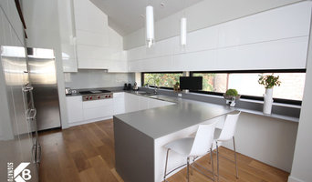 Modern Kitchen and Fireplace