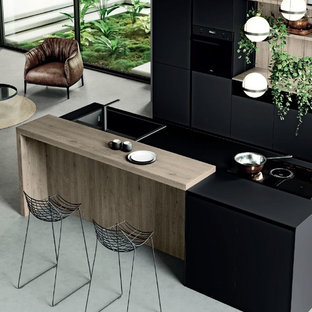 Modern Kitchen & Living
