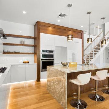 Modern kitchen and stair