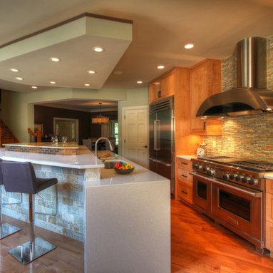 Bi Level Kitchen Island Design Ideas Pictures Remodel