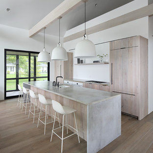 75 Beautiful Kitchen With Light Wood Cabinets And Concrete Countertops Pictures Ideas January 2021 Houzz