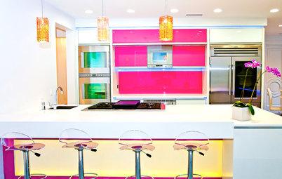 Pretty-in-Pink Kitchens
