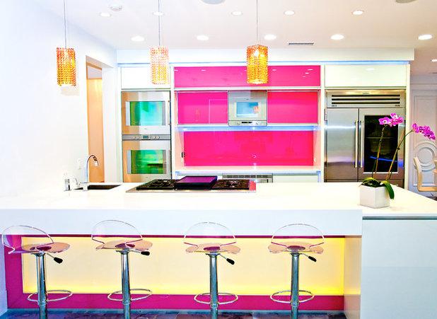 Pretty In Pink Kitchens