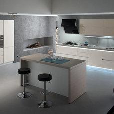 Modern Kitchen by MIG Furniture Design, Inc.