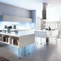 Modern kitchen cabinets - open floor kitchen plan, island ,peninsula