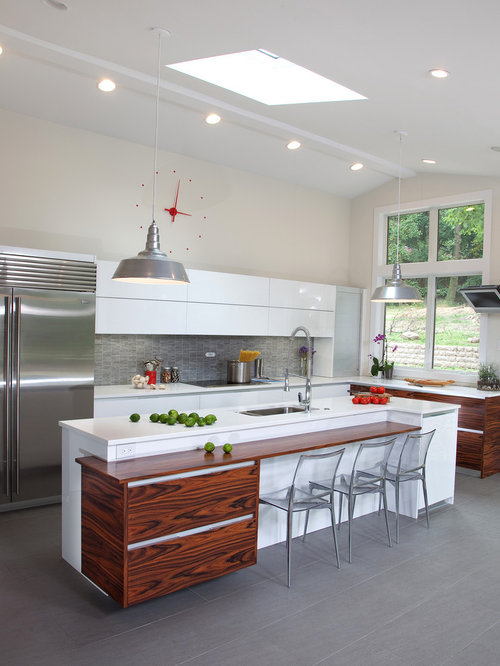 Gray Kitchen Backsplash Houzz